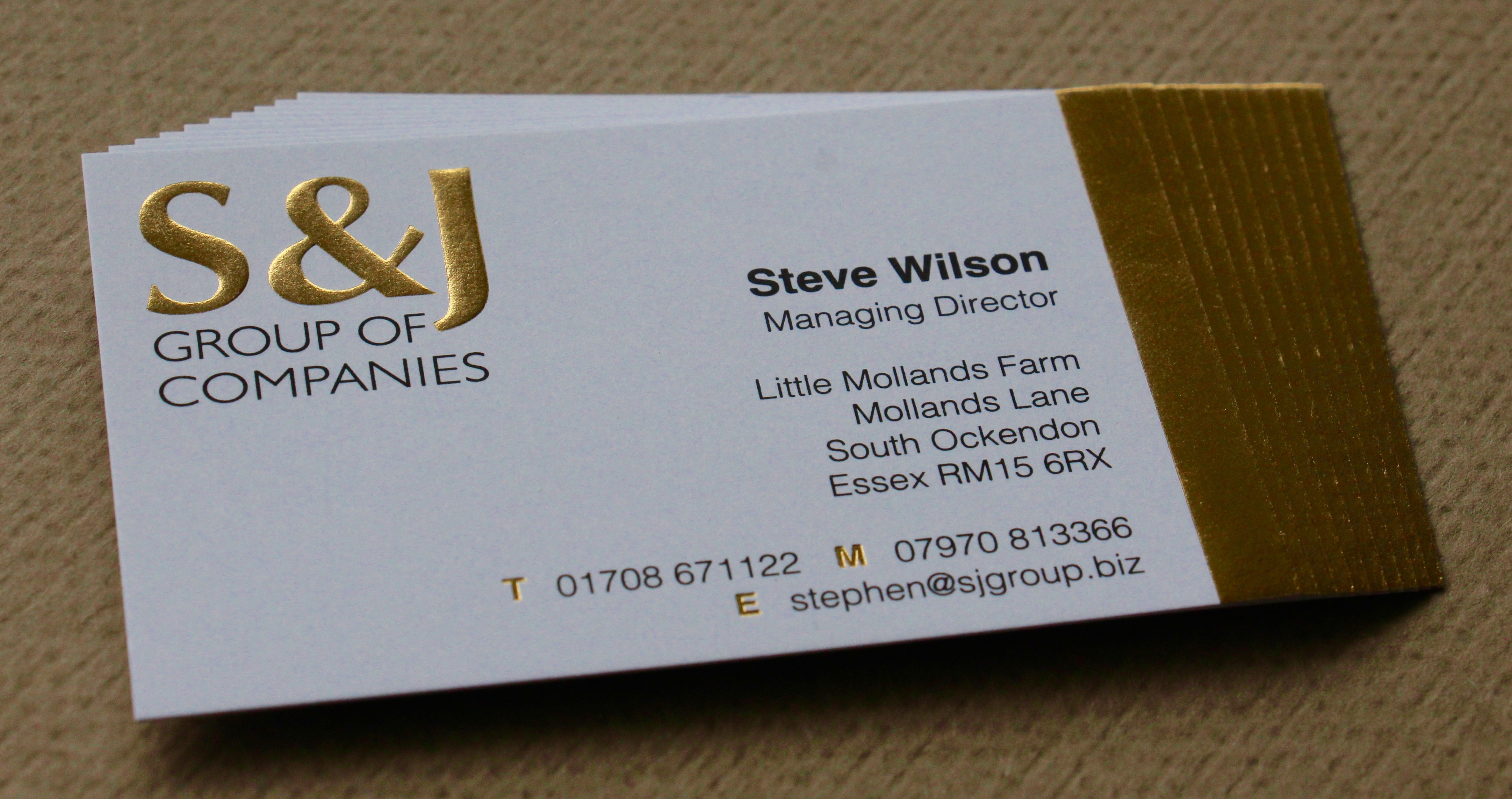 Foil Blocked in Gold with an embossed Logo