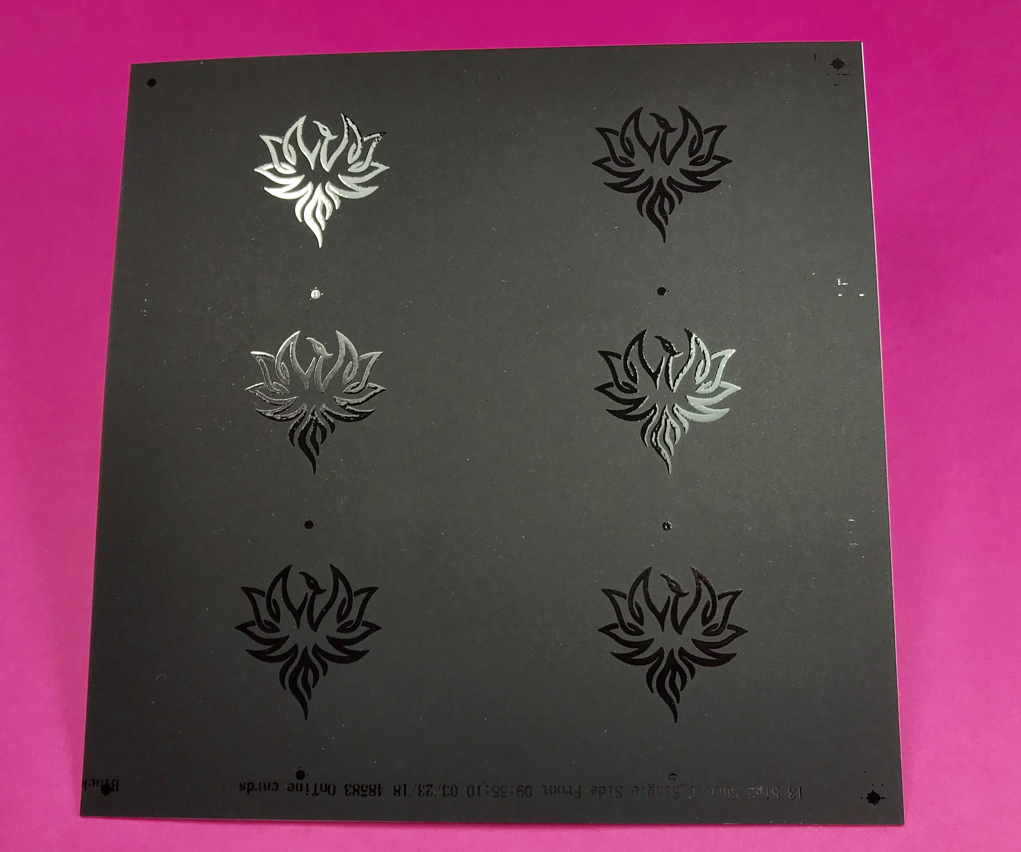 Spot UV Varnish on Black Stock