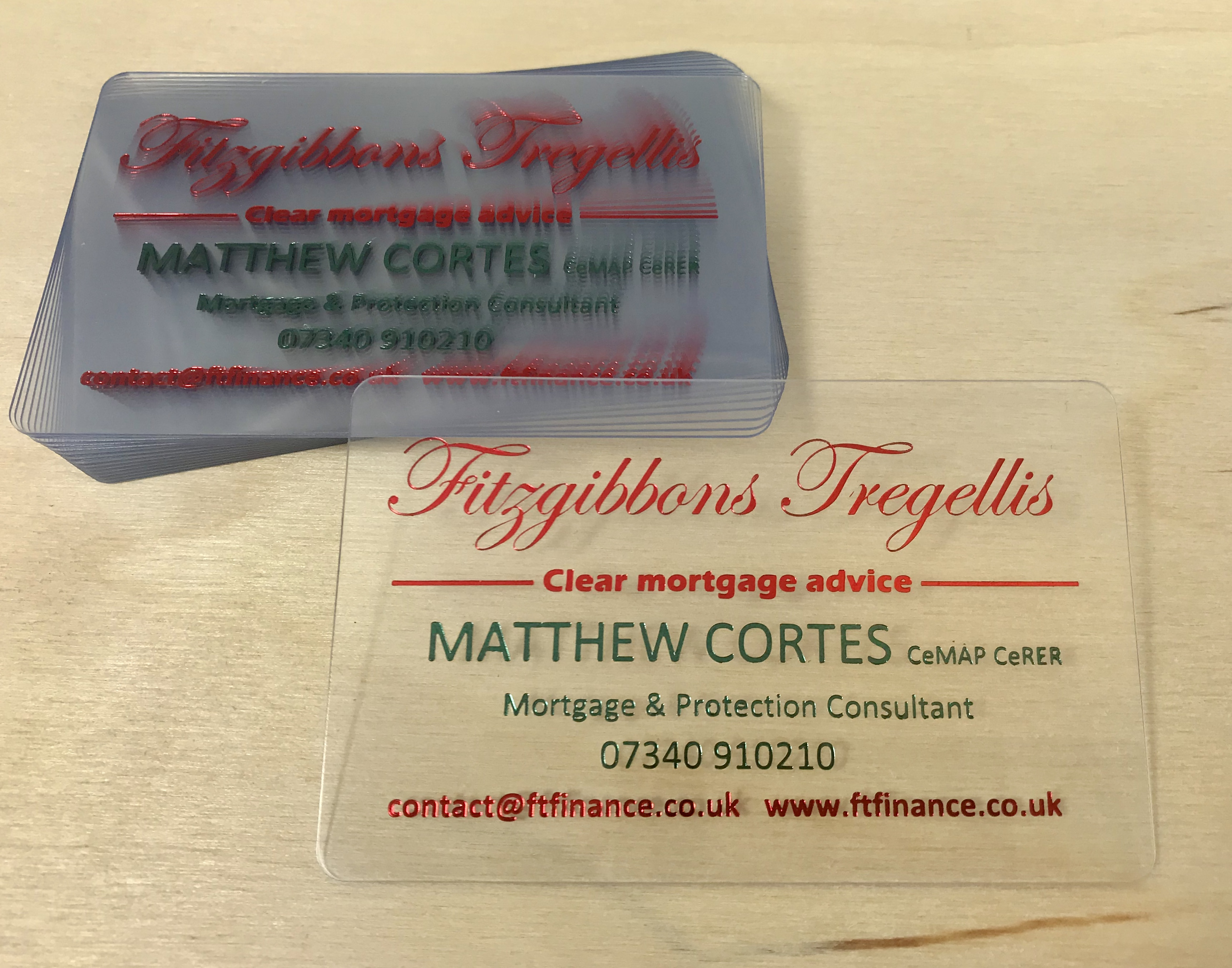 Clear plastic foiled in 2 metalic colours (Love These)