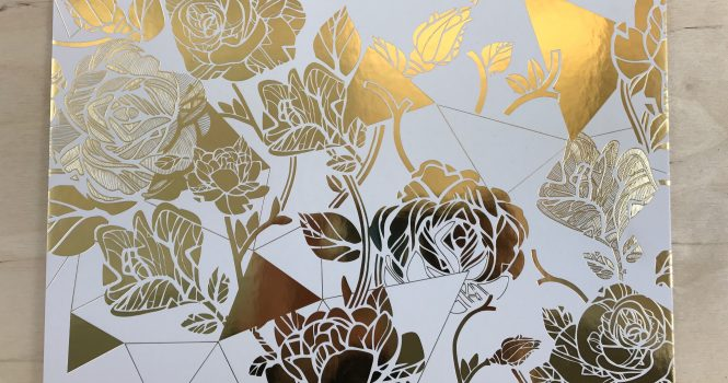 Foil Blocked A3 Board in Metallic Gold