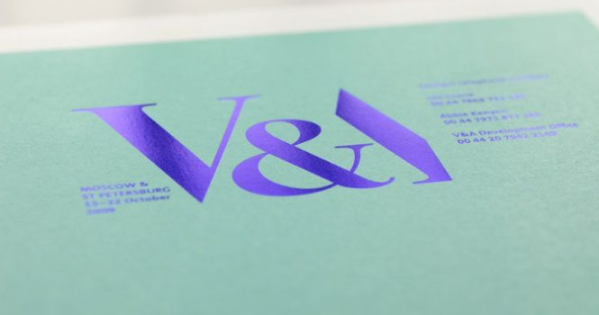 Foil Blocked in Metallic Blue on Litho Printed Invites