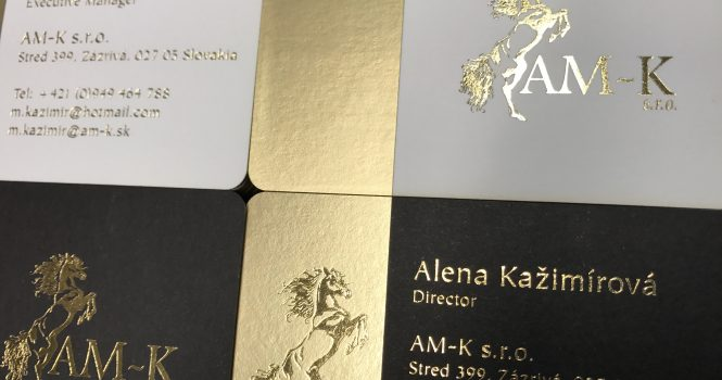 Gold Foil on Satin Gold Foil Business Cards
