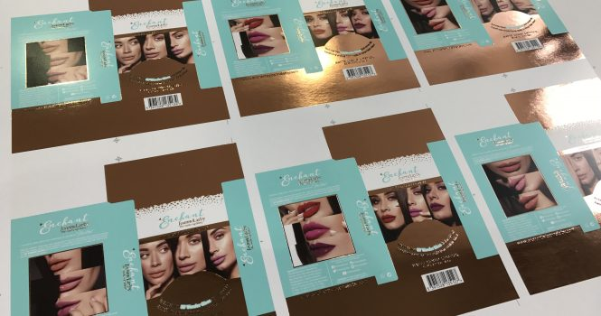Carton/Packaging Foil Blocking in metalic copper foil