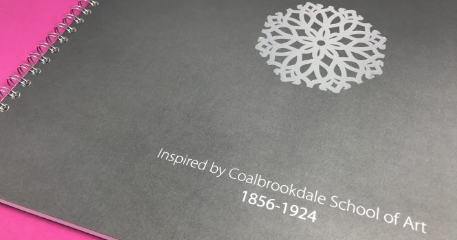 Foil Blocked in White and Silver on Grey Colourplan