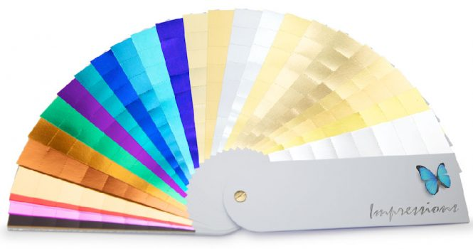 Foil Shade Cards (colours can differ on monitors)