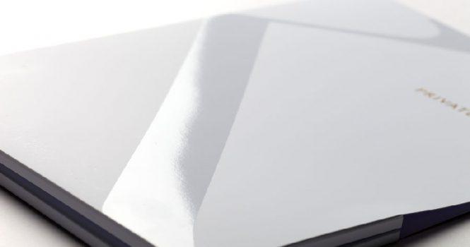 UV Varnish on Silk Art Paper Double Pocket Folder