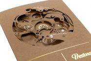 Event Invitation, Foil blocked in Gold & Clear, Laser Cut, Scored, Folded